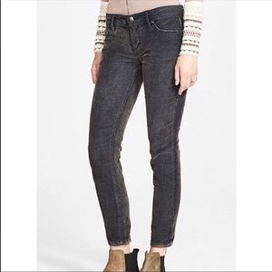 Free People cropped gray corduroy jeans